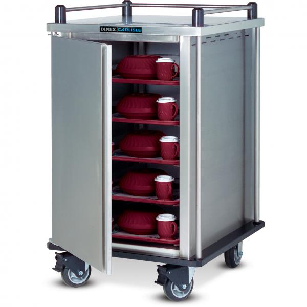 "Delivery Cart, (1) door, 1-compartment, 61-1/2""H, (14) tray capacity, adjustable tray slides"