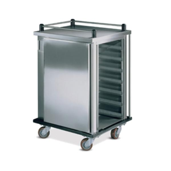 "TQ Economy Tray Delivery Cart, pass thru, (2) doors, 1-compartment, 63-9/16""H, enclosed, (20)"