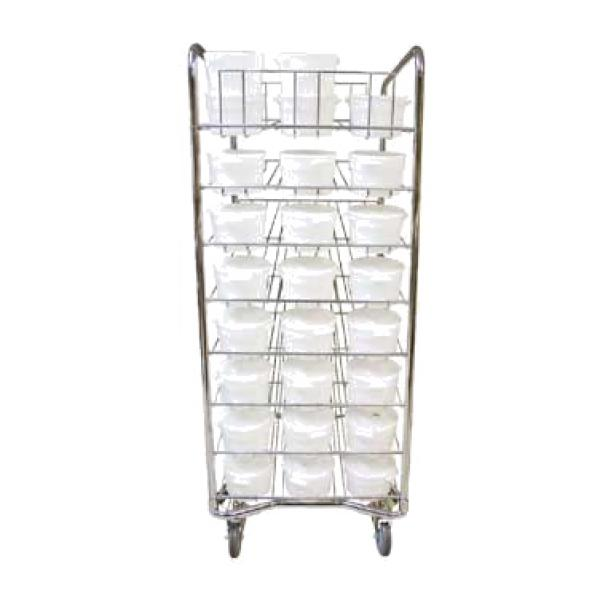 "Doughcart System, mobile, 1"" tubular frame, chrome-plated finish, chrome plated wire gravity"