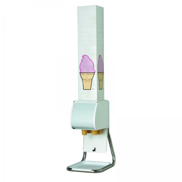 "Ice Cream Cone Dispenser Stand, for boxed cones, 6"" max. box, 15-1/2""H x 9&#"