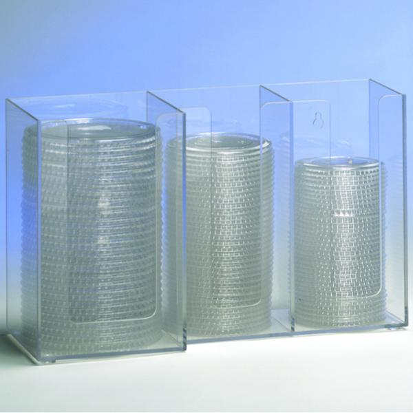 "Lid/Cup Organizer, horizontal, 3 section: (2) 4"" & (1) 5"", 8""H x 13-1/4""W x"