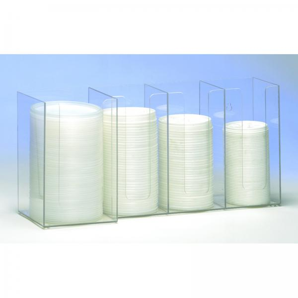 "Lid/Cup Organizer, horizontal, 4 section: (3) 4"" & (1) 5"", 8""H x 17-3/8""W x"
