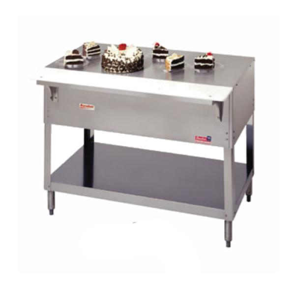 "Aerohot Steamtable Solid Top Unit, 44-3/8"", stainless steel top with 1/2"" thick x 7""W"