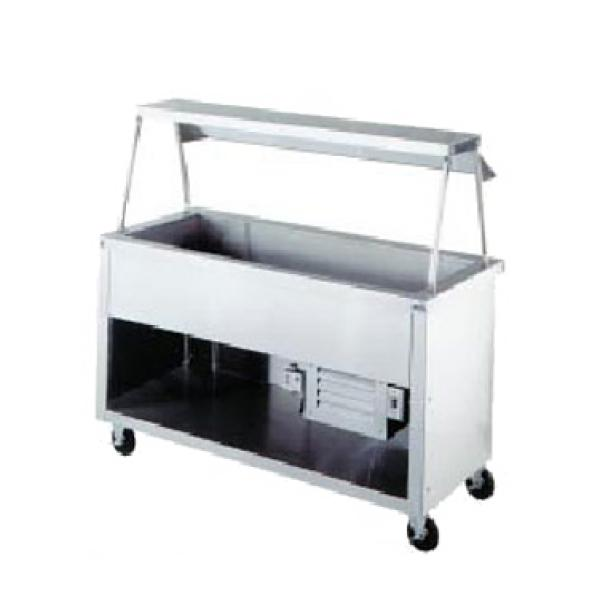 "AeroServ™ Cold Pan Unit, 74""W x 24-1/2""D x 36""H, 20 ga stainless steel top, (5)"