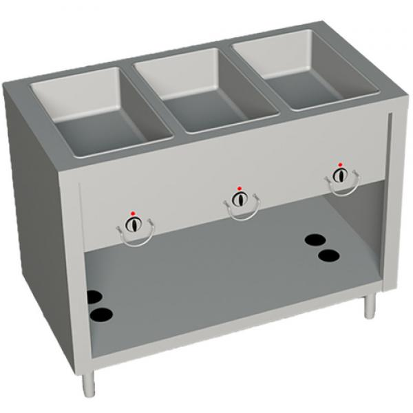 "AeroServ™ Hot Food Unit, gas, 46""W x 24-1/2""D x 36""H, 20 gauge stainless steel"