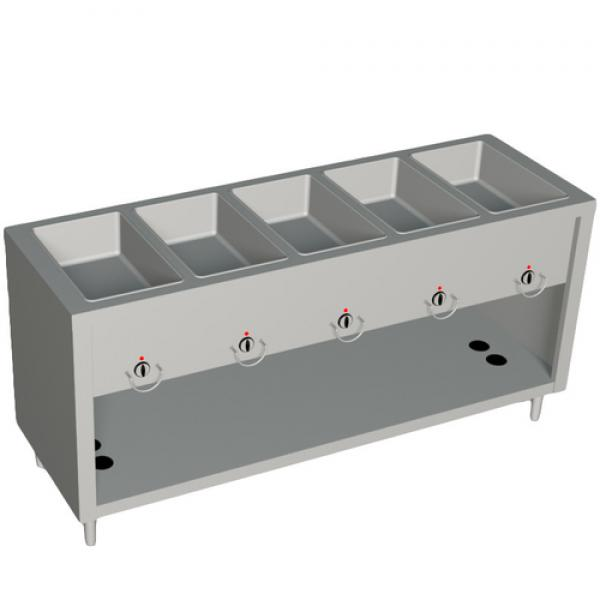 "AeroServ™ Hot Food Unit, gas, 74""W x 24-1/2""D x 36""H, 20 gauge stainless steel"
