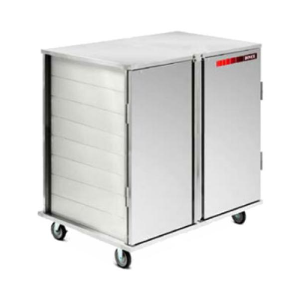 "TQ Economy Tray Delivery Cart, pass thru, low profile, (4) door, 2-compartment, 51-5/8""H"