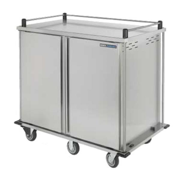TQ Meal Delivery Cart, pass thru, (2) door, 2-compartment, (28) tray capacity, designed to hold