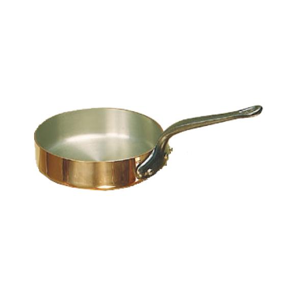 de Buyer Saute Pan, 4.9 qt., copper, stainless steel inside, 2mm thickness, cast