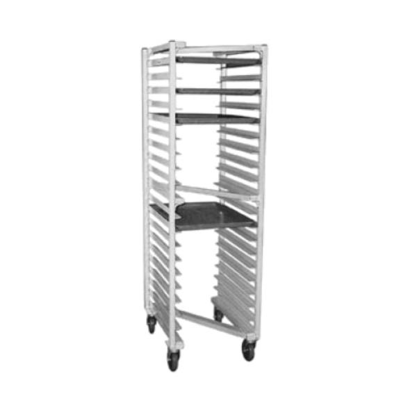 "Panco® Z Type Nesting Rack, mobile, 20-1/2""W x 26""D x 69-1/2""H, full height, open"