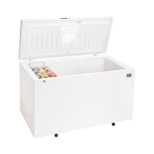 Chest Freezer, 19.7 cubic feet capacity, sealed cabinet interior, white exterior, li