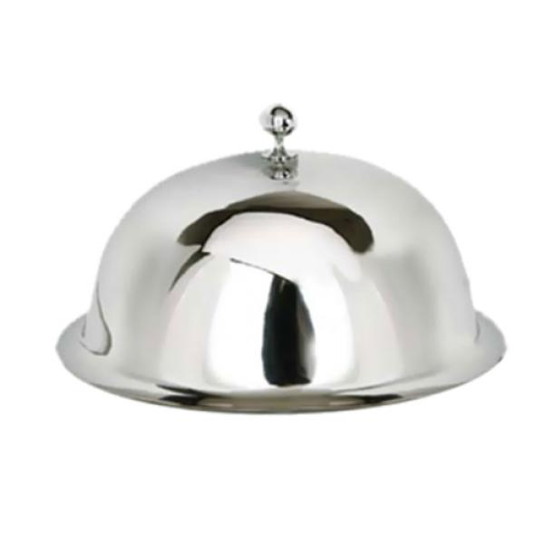 "Eastern Tabletop 9412 Service Plate Cover, 12"", round dome with ornate finial, stainless steel ..."