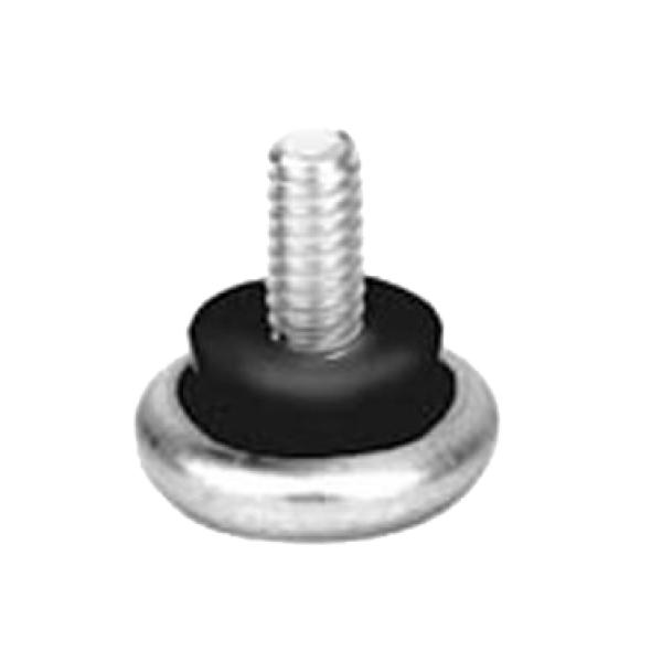 "Glide, 7/8"" base diameter, 1/4""-20 thread, 1"" stud height, metal"