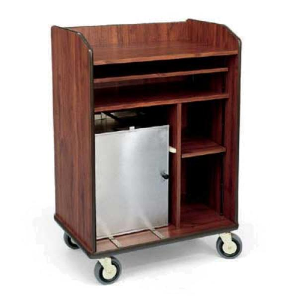 Forbes industries 4965 room service cart 3 sided cabinet for Hotel room service cart