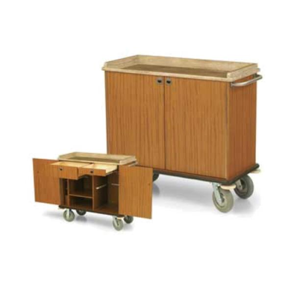 Forbes industries 4968 room service cart 3 sided avonite for Hotel room service cart