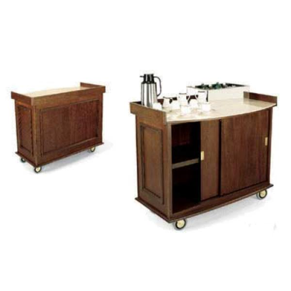 Forbes Industries 5759 Beverage Cart, Wood Veneer Cabinet