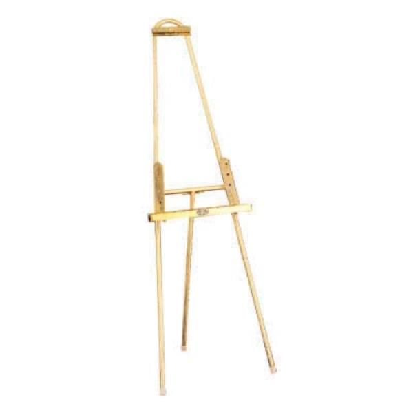 "Easel, 24""W x 20""D x 66-1/2""H, adjustable, stainless steel, brushed"