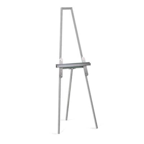Easel, mitered top design, stainless steel, brushed finish, 5 position, adjustab