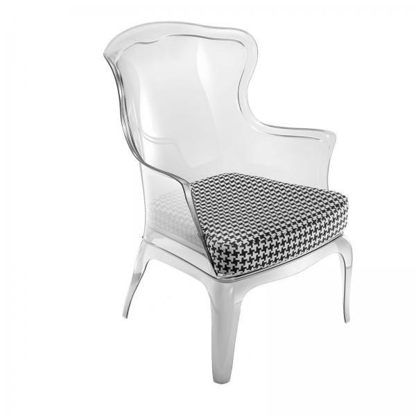 Florida Seating PASHACLEAR Pedrali Pasha Arm Chair designed for – Clear Arm Chair