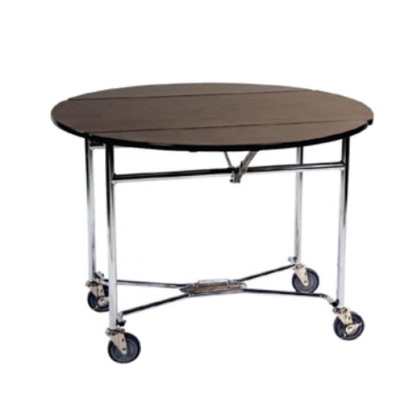 "Choice Series Room Service Table, round, 40"" dia. x 30""H, (folding frame and"