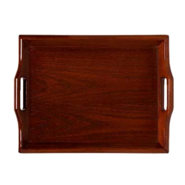 Room Service Tray 19 X 14 1 4 Hardwood Mahogany Hotel Restaurant Supply