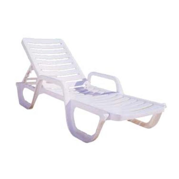 Grosfillex 44031004 bahia chaise adjustable resin white for Bahia chaise lounge