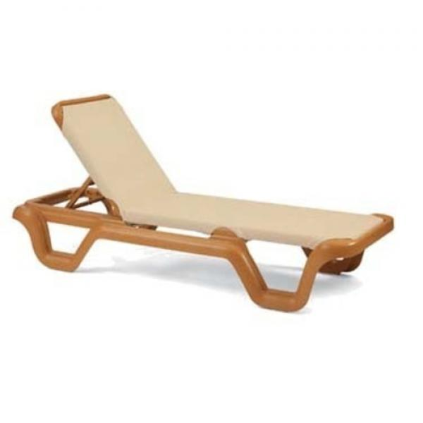 Grosfillex 99414108 marina chaise without arms for Chaise longue grosfillex