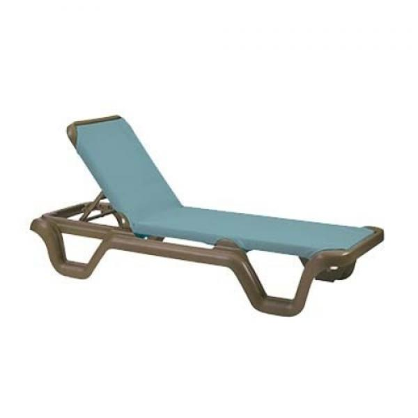 Grosfillex us414550 marina chaise without arms for Bronze chaise lounge