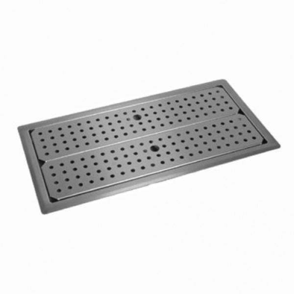 "Drip Tray Trough, drop-in, 36""W x 12""D, flanged self-rimming edge, removable perforated"