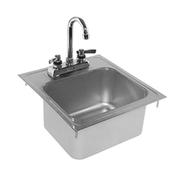 Glastender Di Hs14 Lf Hand Sink Drop In 14 Quot W X 15 Quot D O A