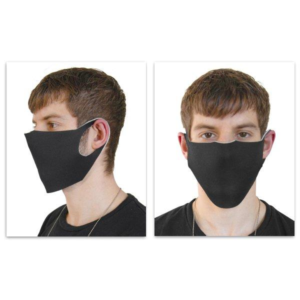 Reusable Face Mask - 150 Pack, Black-White, Reversable, Our best selling 2-Layered Face Mask with