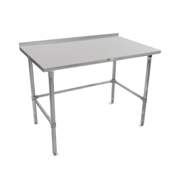 John Boos STRGBK Work Table W X D Stainless - Stainless steel table accessories