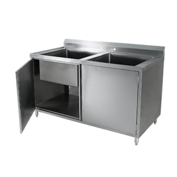 Klingers Cab 3060 Sink Two Compartment Cabinet Base With