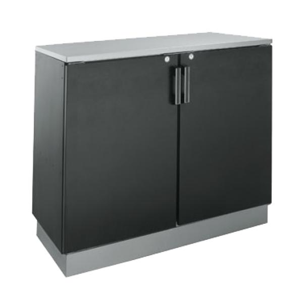 "Back Bar Dry Storage Cabinet, two section, 48""W x 24""D x 36""H, non-refrigera"