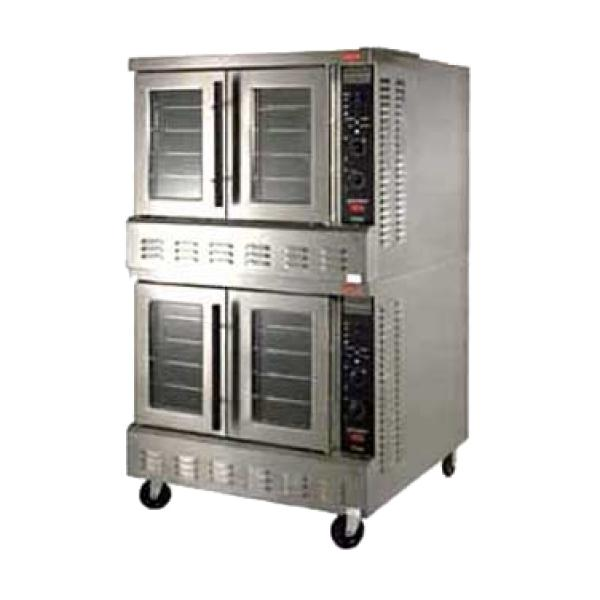 "Convection Oven, electric, 2-deck, ""SII"" solid state controls with auto. Cook-N-"