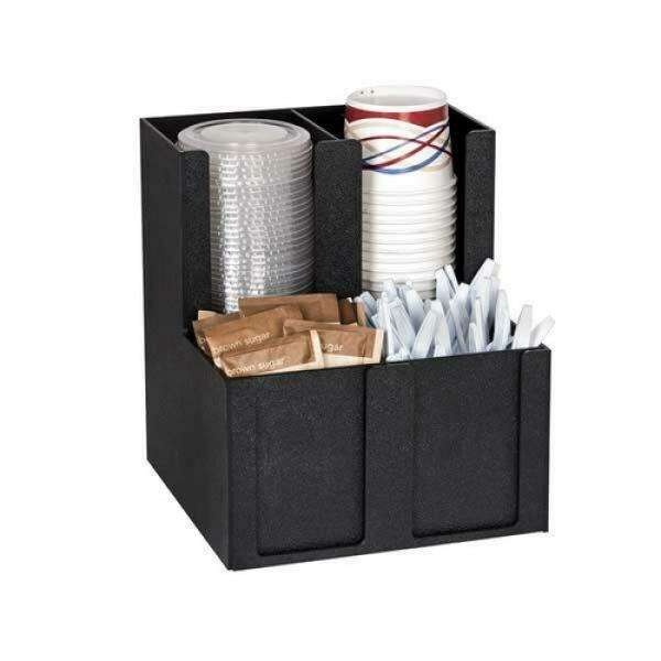 Cup, Lid, Straw & Condiment Organizer, 4 sections, includes (4) removable dividers