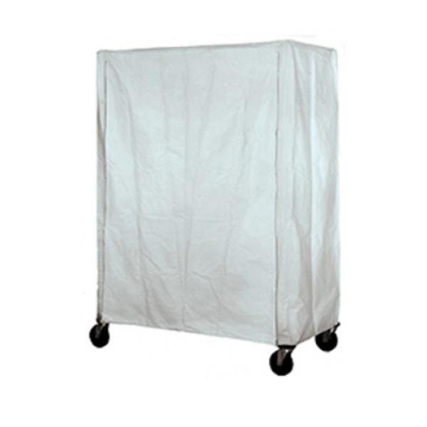 "Cart Cover, coated with zipper, 36""W x 18""D x 63""H, reinforced corners, fire retardant"