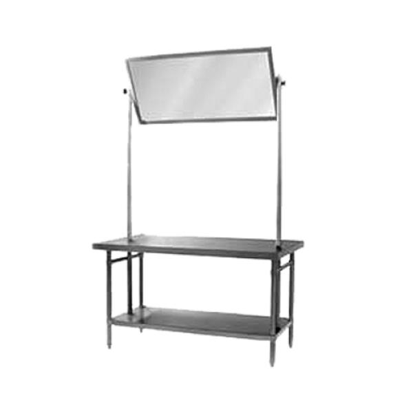 "Spec-Master® Demo Table, 72""W x 36""D x 88""H, 14/304 stainless steel top, box"