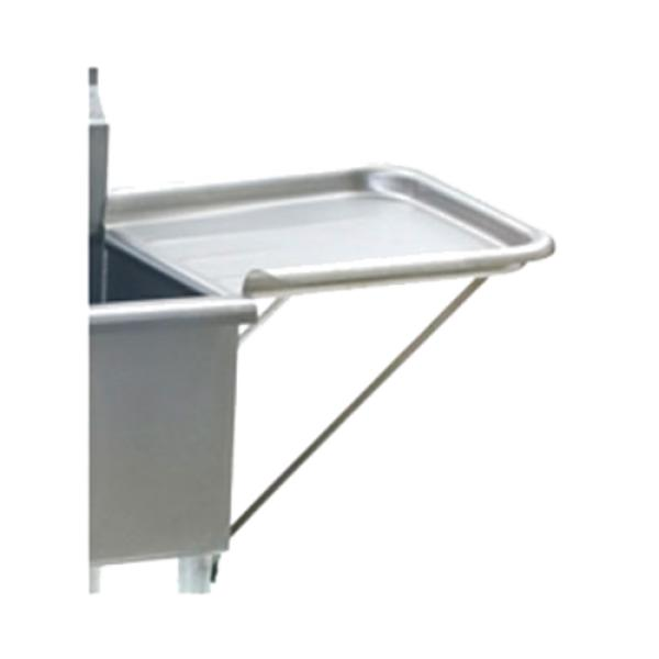 "Detachable Drainboard, 24""W x 18""D, rolled rim, includes (2) support brackets, 16/304"