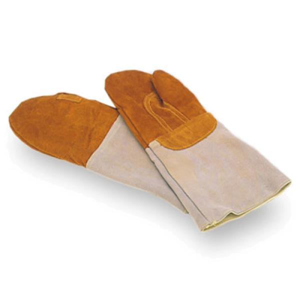 "Baker Oven Mitt, 8""L forearm protection, heat resistant up to 572°F, leather"