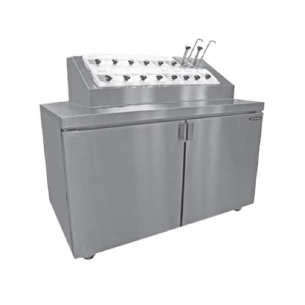 Ice Cream Topping Unit Refrigerated Base Air Cooled
