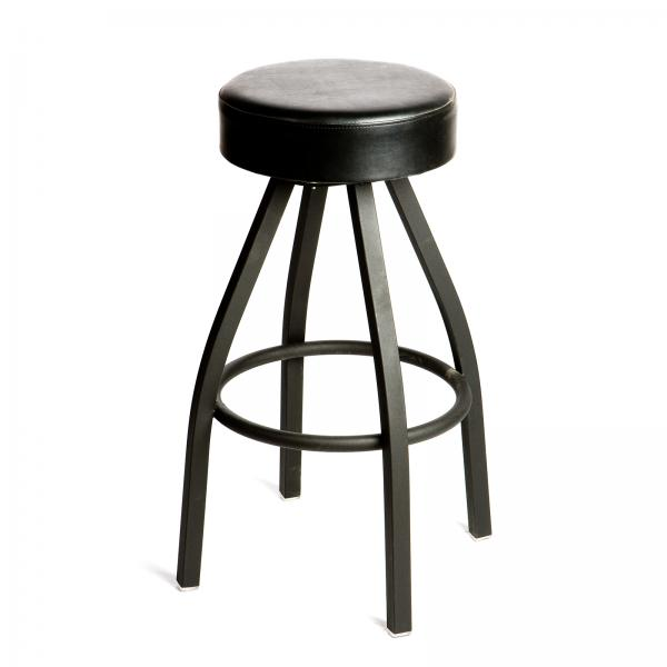 Swivel Bar Stool, backless, upholstered button top seat, import flat swivel, metal ball bearings