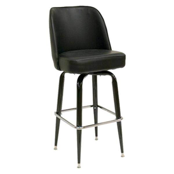 Oak Street Sl3133 Blk Swivel Bar Stool Upholstered Bucket