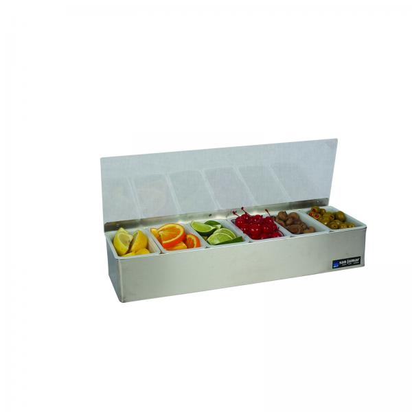 San Jamar B4186l Non Chilled Garnish Tray 18 Quot W X 5 3 4 Quot D