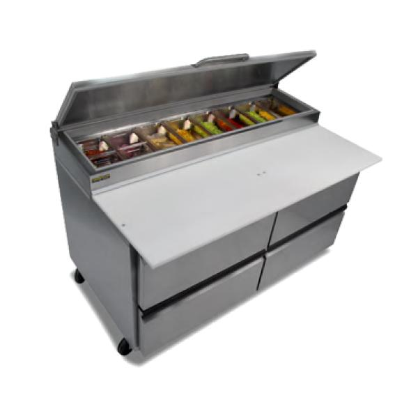 Dc Kitchen Supply: Silver King SKPZ60D/C10 Pizza Prep Table, Front Breathing