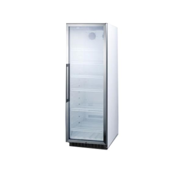 "Beverage Center, one-section, 23.63""W x 23.75""D x 69.75""H, 12.7 cu. ft. capacity"