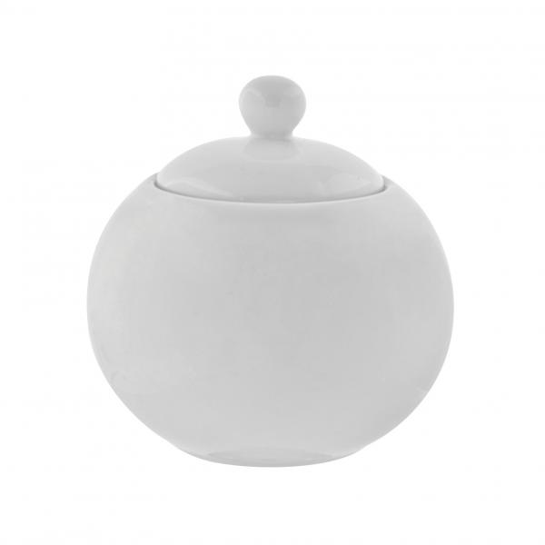 Sugar Bowl, 13 oz., with cover, oven/microwave/dishwasher safe, porcelain, Whittier (sold in case