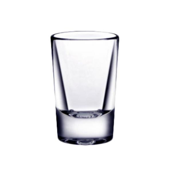 "Shot Glass, 1 oz., 2-1/2""H, heavy base, polycarbonate, clear"