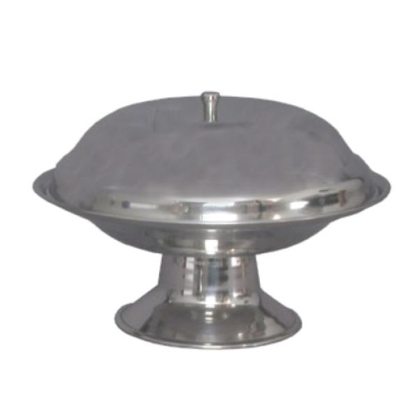 "Compote Dish, 7-1/2"" dia, footed base, polished 18/8 stainless steel, cover sold separately"