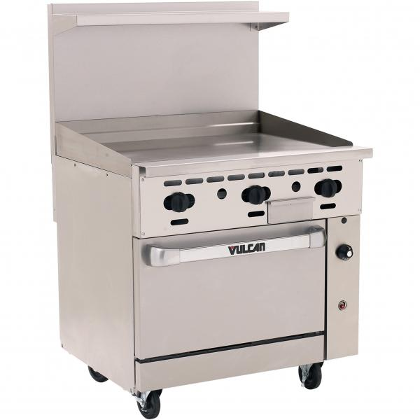 "Endurance™ Restaurant Range, gas, 36"", griddle, 3/4"" thick plate, manual controls"